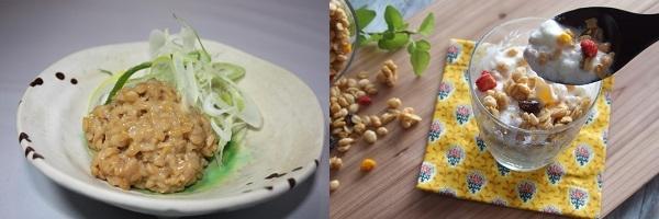 納豆とヨーグルトの画像