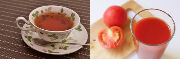紅茶とトマトジュース