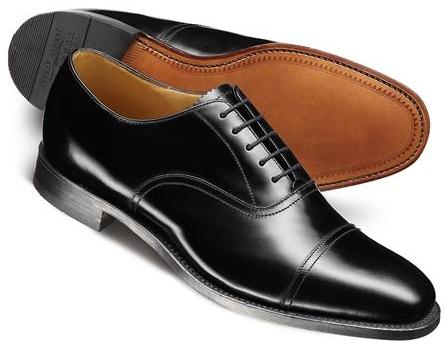 内羽根式の革靴