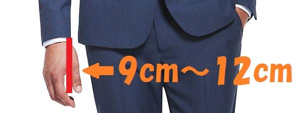 スーツの袖丈の長さ