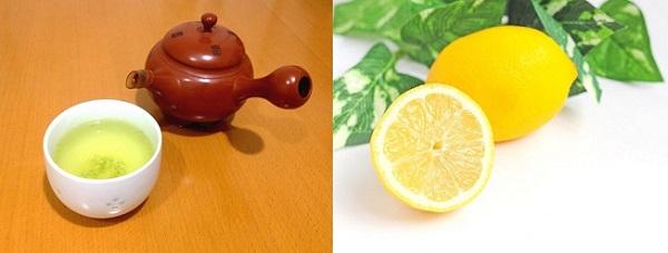 緑茶とレモン