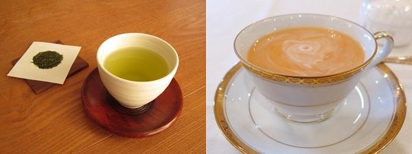 緑茶とミルクティー