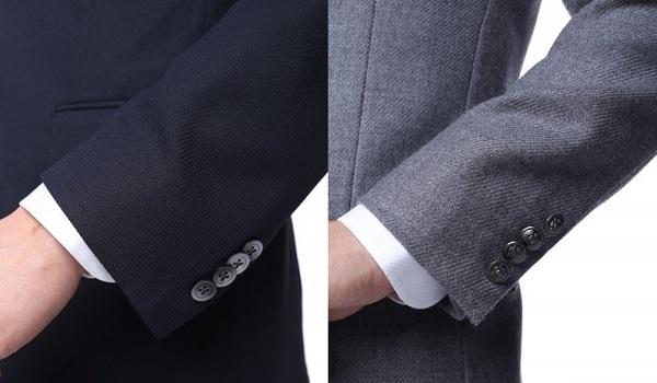 ジャケットとブレザーのボタンの違い
