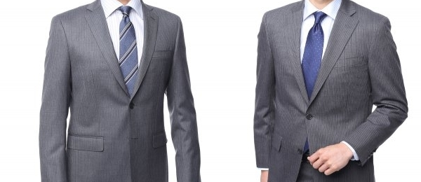 ノッチドラペルのスーツ