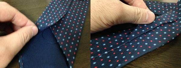 ネクタイのたるみ糸