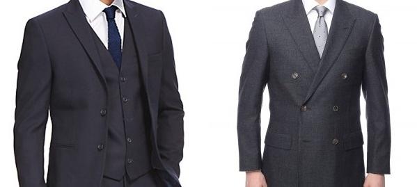 ピークドラペルのスーツ