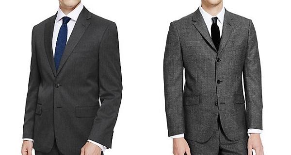 スーツのボタンの留め方2つボタンと3つボタンのスーツ