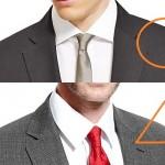 スーツのシャツの選び方-スーツの胸のVゾーンで選ぶべし?